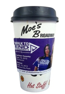 Walk To End Alzheimer's Coffee Cozy