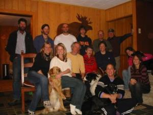 Bill with the whole family at Christmas in 2006
