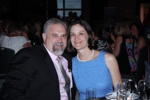 Board Chair Sarah Lorance and her husband Michael enjoy An Elegant Evening of Art benefiting the Alzheimer's Association of Colorado