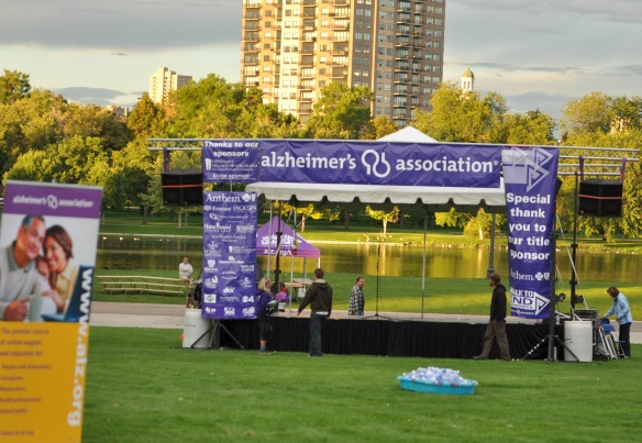 Our Banners at the 2011 Walk to End Alzheimer's
