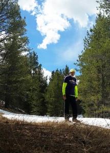 Jack Fussell running through Colorado