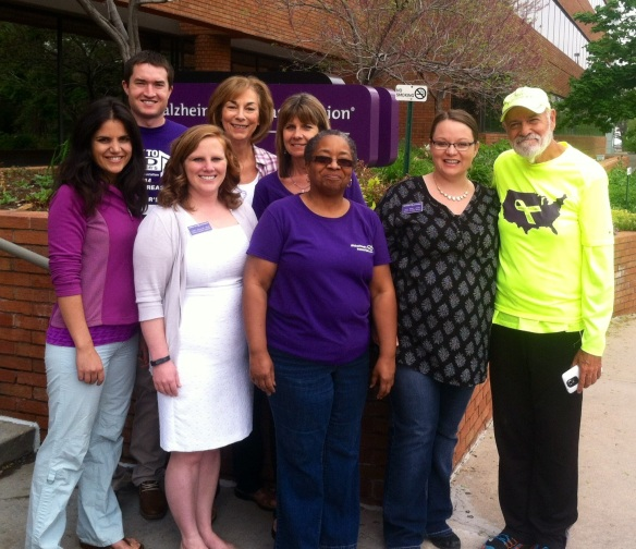 Jack Fussell visits the Alzheimer's Association Colorado Chapter